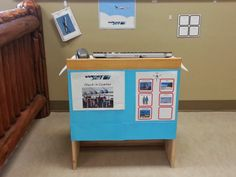 Now Boarding... - The imaginary play centre for our transportation theme. We created an airplane, terminal, and airport check in for the kids to practice going on trips and role play different airport roles. Special thanks to West Jet for their help with this one.