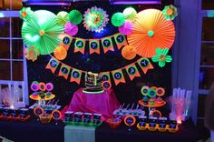 Glow Party Birthday Party Ideas | Photo 1 of 17 | Catch My Party