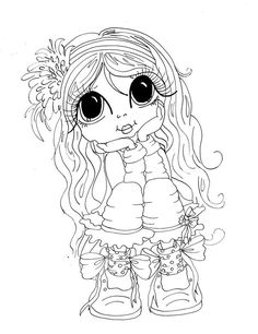 sherri baldy my besties free Coloring Pages For Girls, Coloring Book Pages, Coloring Sheets, Big Eyes Artist, Line Art Images, Black And White Lines, Eye Art, Digital Stamps, Besties