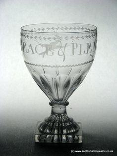 SOLD - Georgian Engraved Glass Rummer c1820