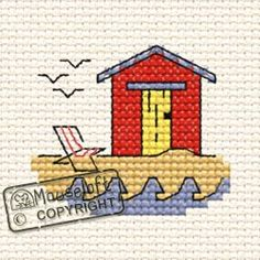 'Beachhut' from the At The Seaside range by Mouseloft. Available in the shop.