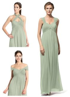8e26ea3695 The Remi is a convertible strap empire waist gown with pleating on the  bodice.