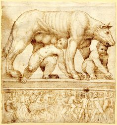 Romulus and Remus, C. Dolphin Teeth, Romulus And Remus, Book Drawing, Pablo Picasso, Wolves, Masters, Roman, Art Drawings, Doodles