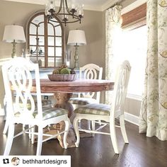 First a set of chairs (see previous post), now drapes! Looks like it's an Errington Meadow kind of day. Makes me happy to see you guys incorporating my @kravetinc fabrics in your homes! Keep the tags coming! #Repost @bethhartdesigns