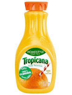 Tropicana Pure Premium® Low Acid Orange Juice drink provides the vitamins, minerals and smooth taste of pure orange juice, but with less acidity. Juice Drinks, Fruit Juice, Juice Bottles, Hot Sauce Bottles, Healthy Kids, Healthy Snacks, Healthy Drinks, Orange Juice Brands, Best Mimosa Recipe