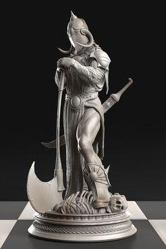 Death Dealer III 6 Troy Oz Silver Statue