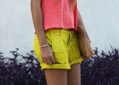 punchy spring outfit