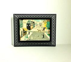 Vintage 1950's F. L. Benton Framed Water Color by BeppieandEido