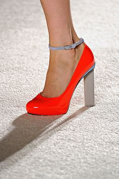 Roksanda Illincic - LOVEEEE thick heel and ankle strap with bbrrright color