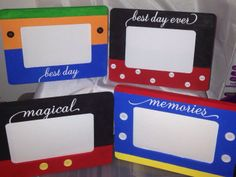 Disney Frames Mickey Minnie Donald Goofy. by craftinandstampin, $8.95