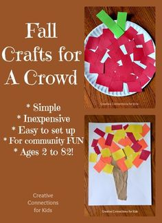 Fall Crafts for a crowd - fun!- Pinned by @PediaStaff – Please Visit ht.ly/63sNtfor all our pediatric therapy pins