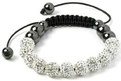 NEW Collection NY London white Shamballa Crystal Beads ladies Men s Women Bracelet Dimante MAXTIME, http://www.amazon.co.uk/dp/B00DGRW4CG/ref=cm_sw_r_pi_dp_Z0o9sb0FFT4H9