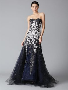 @Nadia Sadeghian I can totally see you in this gown! And I will wear the black one I pinned a second ago :)  Carolina Herrera  Tule Strapless Embroidered Gown