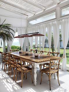 A gorgeous tropical veranda, perfect for laid back...