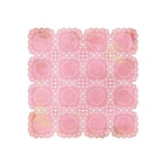 "Capture The Magic: Ltd Basic Grey 12"" x 12"" Doilies - Lemonade Pink ❤ liked on Polyvore"