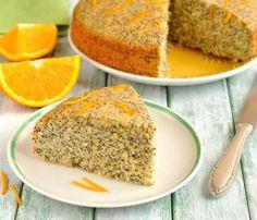 Torta all'arancia con semi di papavero