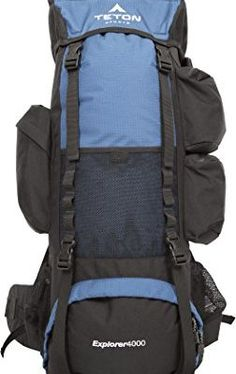 TETON Sports Explorer 4000 Internal Frame Backpack Great Backpacking Gear Hiking Backpack for Camping and Hunting Navy Blue ** Continue to the product at the image link. (This is an affiliate link) Hiking Tips, Camping And Hiking, Tent Camping, Camping Gear, Camping Bags, Best Backpacking Packs, Backpacking Gear, Best Hiking Backpacks, Cool Backpacks