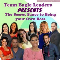 "MARK YOUR CALENDARS for a SPECIAL CALL!   Join us this Thursday, March 26th, as Team Eagle Leaders share ""The Secret Sauce to Being Your Own Boss.""  Hear how many of our Leaders working full-time are building their Dreams part-time simply by paying it forward!   Date: Thursday, March 26th Time: 8PM ET Dial In: (712) 432-3066 Code: 765557"