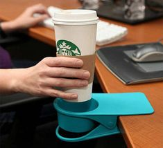 No more worrying about spilling your coffee all over your desk!