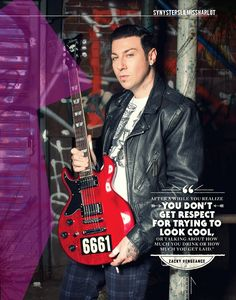 Have this magazine! Guitar World, 2013, with Zacky Vengeance!