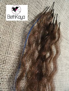 Chocolate Ultra Wave and Electric Blue I Tip Tresses by BethKaya, $20.00
