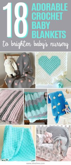 There are tons of fantastic free crochet baby blanket patterns out there but we've found these 18 adorable crochet baby blankets to brighten baby's nursery. Cute Crochet, Crochet For Kids, Crotchet, Crochet Designs, Crochet Patterns, Crochet Ideas, Knitted Blankets, Baby Blankets, Crochet Baby Blanket Free Pattern