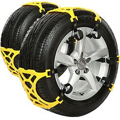 Carsun 2015 NEW Anti Slip Chain/tire Chains of Car,SUV, Snow Tire Chains, Fully Enclosed Universal Emergency Pure Tendon Thickening Anti-skid Chains(set of 6),give Snow Shovel, Glove