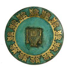 Novica Inca Lord Creator Copper Plate