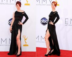 """Move over Angelina Jolie. There's a new starlet in town who's not afraid to flash a little leg. Alexandra Breckenridge of """"American Horror Story"""" strikes a fierce pose in a slinky black gown."""