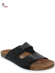 Pepe Jeans, 90042pms Bio buckles, Homme, mule noir lisse EU42 - Chaussures pepe jeans (*Partner-Link)