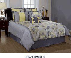 8Pcs Queen Peony Bedding Comforter Set. kinglinen.com