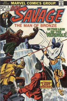 Doc Savage #8 - Marvel Comics - Written by Tony Isabella with art by Rich (Demon Hunter) Buckler, Tom (Doctor Strange) Palmer & Jack Abel - second part of the adaptation of Brand of the Werewolf Doc Savage novel, first of the novels to feature Pat Savage.