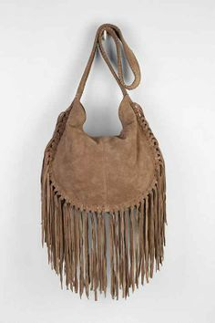 Ecote Bettina Suede Fringe Hobo Bag - Urban Outfitters