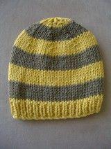 Baby Knitting Patterns Men FREE knitting pattern – childs striped beanie f6bbd12a709