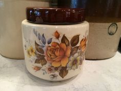McCoy Floral Cookie Jar No. 214 with Lid
