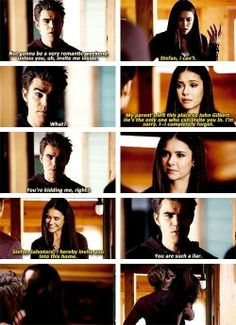 I really miss their relationship. Elena and Damon just doesn't seem natural. #Stelena #TVD