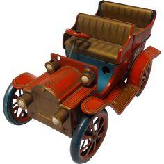 Vintage Modern Tin Toy's Static Model T Touring Car -- found at www.rubylane.com #vintagebeginshere