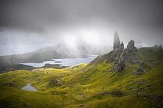 Tourists visit The Storr on the Isle of Skye on August 17, 2017 in Portree, Scotland.