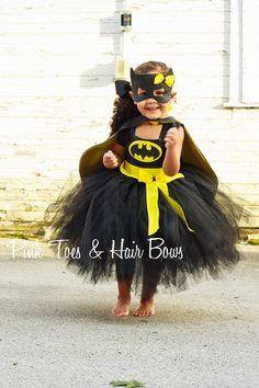 Batgirl costume- Bat girl tutu costume- Batman costume dress- Batman dress-Batman tutu