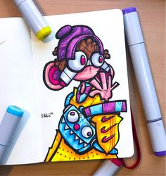 """Ekoluz у апликацији Instagram: """"Sup bois, here's a little character drawing I finished yesterday. I'm sorry for not being active on Instagram lately, I've just been being…"""" Cute Doodle Art, Doodle Art Designs, Doodle Art Drawing, Art Drawings Sketches, Graffiti Doodles, Graffiti Drawing, Graffiti Lettering, Vexx Art, Artist Art"""