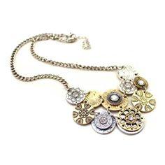 #RoseGal.com - #RoseGal Circle Linked Embellished Necklace - AdoreWe.com