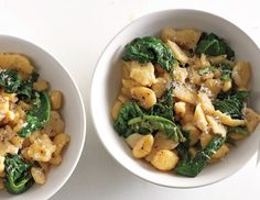 ... semolina dumplings) with pecorino and mustard greens via @bonappetit