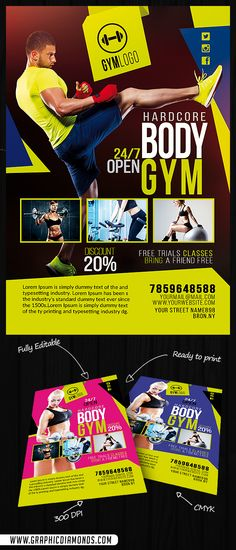 Hardcore Gym Flyer  Gym Flyers And Rock Design