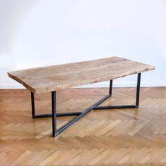 Oak steel table