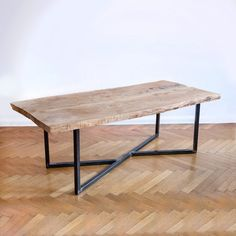 Oak steel table
