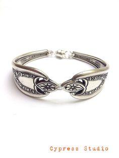 Antique Silver Spoon Bracelet - circa 1911