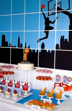 Basketball Themed 1st Birthday Party with Really Cool Ideas via Kara's Party Ideas | KarasPartyIdeas.com #Sports #NBA #BoyParty #PartyIdeas #PartySupplies BasketballParty