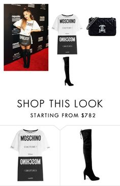 """Ariana Grande"" by aylinbagirova ❤ liked on Polyvore featuring Moschino and Stuart Weitzman"
