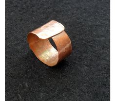Raw copper ring, hammered  copper  jewelry, $12.00