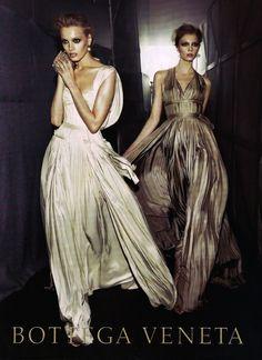 Anna Maria Jagodzinska and Sigrid Agren by Steven Meisel for Bottega Veneta, Fall/Winter 2009/2010 #campaign
